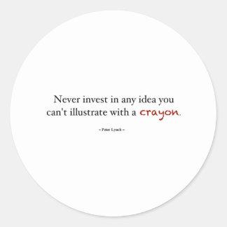 Crayon investing round sticker