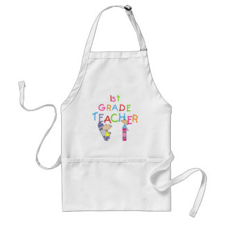 Crayons 1st Grade Teacher Tshirts and Gifts Standard Apron