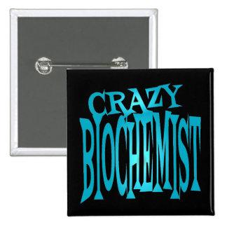 Crazy Biochemist in Teal 15 Cm Square Badge
