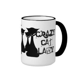 Crazy Cat Lady Ringer Mug