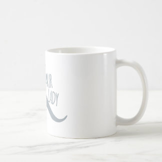 Crazy Dinosaur Lady Basic White Mug