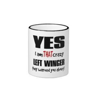 Crazy Left Winger Ringer Mug