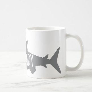 Crazy Shark Lady Basic White Mug