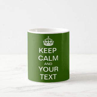 "Create Your Custom Text ""Keep Calm and Carry On"" Basic White Mug"