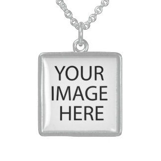 Create your own Birthday Square Pendant Necklace