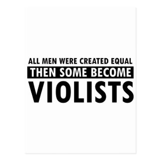 Created equally violists design postcard