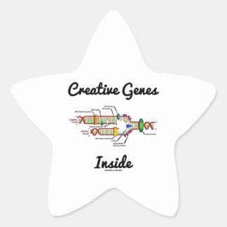 Creative Genes Inside (DNA Replication) Star Sticker
