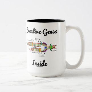 Creative Genes Inside (DNA Replication) Two-Tone Mug