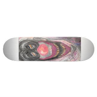 """""""Creeper"""" Creepy Clown art by Colleen Wallen Skateboard Decks"""