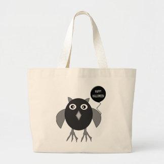 Creepy Halloween Party Owl Tote Bag