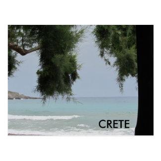 Crete along the Mediterranean Sea Postcard