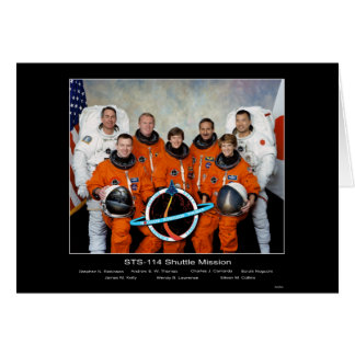 Crew of the STS-114 Shuttle Mission - 2005 Greeting Card