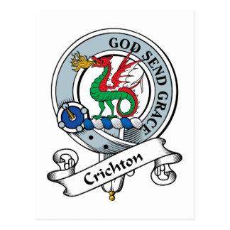 Crichton Clan Badge Postcard