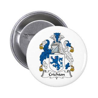 Crichton Family Crest 6 Cm Round Badge