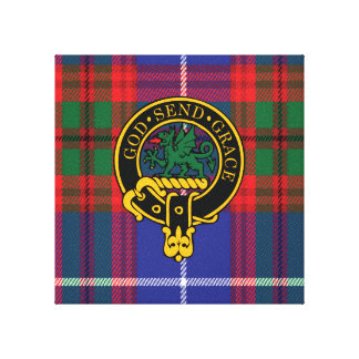 Crichton Scottish Crest and Tartan Canvas print