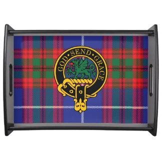 Crichton Scottish Crest and Tartan Serving Tray