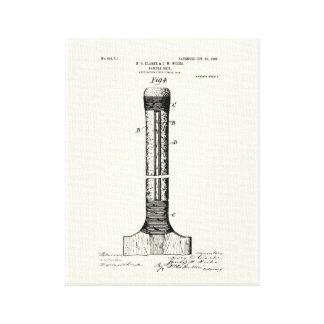 CRICKET BAT PATENT - CIRCA 1906 GALLERY WRAP CANVAS