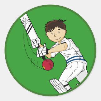 Cricket Batsman Sticker