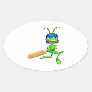 Cricket Cricket Oval Sticker