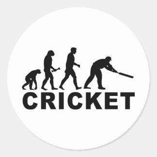 Cricket Evolution Round Sticker