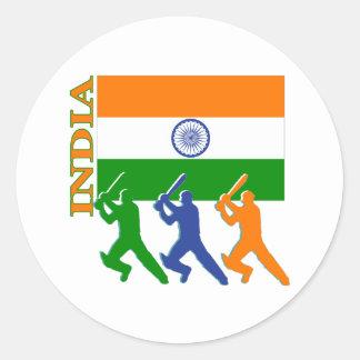 Cricket India Round Sticker