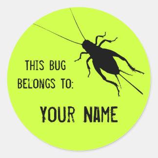 Cricket Label Round Sticker