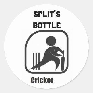 cricket-logo, Split'sBottle Round Sticker