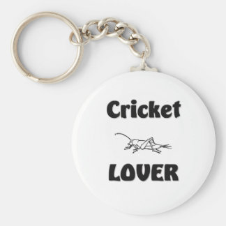 Cricket Lover Basic Round Button Key Ring