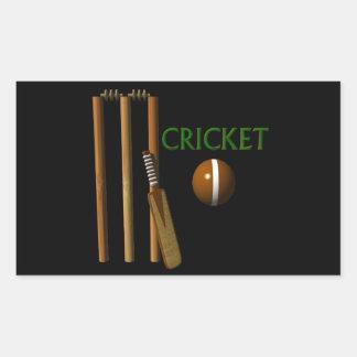 Cricket Rectangular Sticker