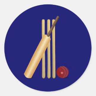 Cricket Round Sticker