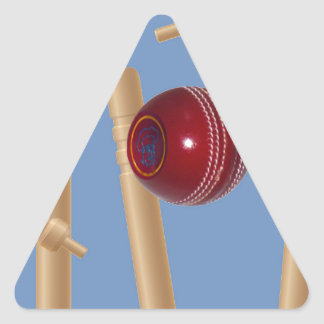 Cricket_Stumps,_ Triangle Sticker