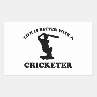 Cricket Vector Designs Rectangular Sticker
