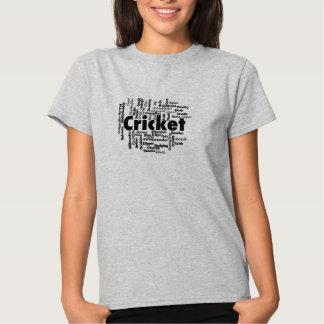 Cricket Word Cloud Shirts