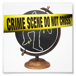 """Crime Scene"" Eco-Art Photograph"