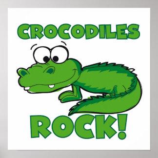 Crocodiles Rock Poster