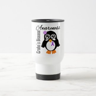 Crohn's Disease Awareness Penguin Stainless Steel Travel Mug