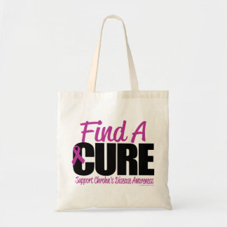 Crohn's Disease Find A Cure Budget Tote Bag