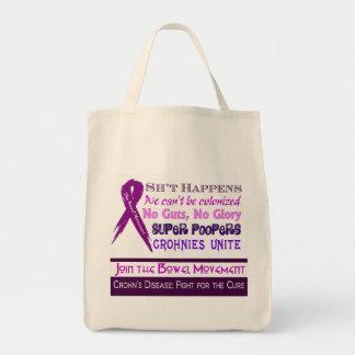 Crohn's Disease Humor Grocery Tote Bag