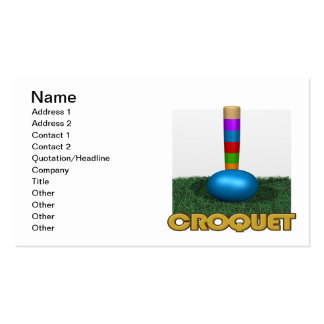 Croquet 2 pack of standard business cards
