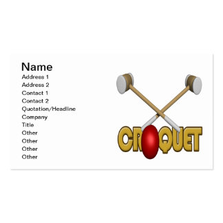Croquet 3 pack of standard business cards