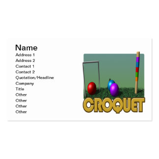 Croquet 5 pack of standard business cards