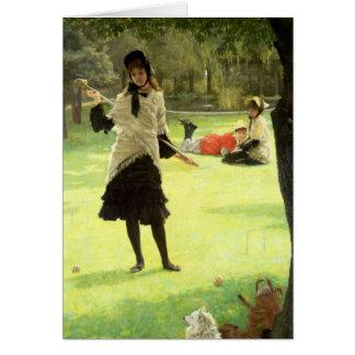 Croquet, c.1878 greeting card