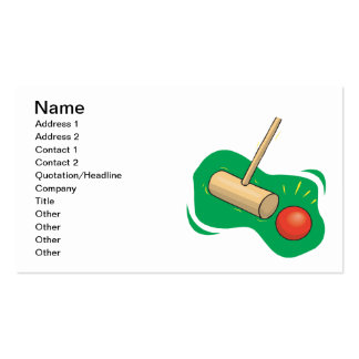 Croquet Club And Ball Pack Of Standard Business Cards