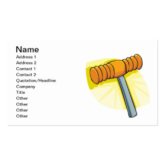 Croquet Mallet Pack Of Standard Business Cards