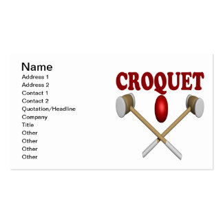 Croquet Pack Of Standard Business Cards