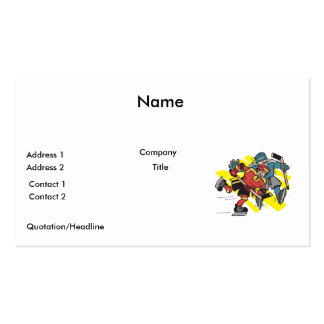 cross checking ice hockey players pack of standard business cards