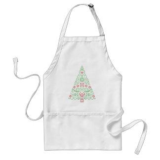 Cross Stitch Christmas Tree Apron