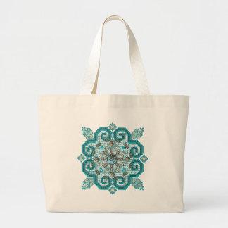 cross stitch jumbo tote bag