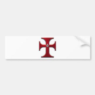 Cross with fleur-de-lis – Red Bumper Sticker