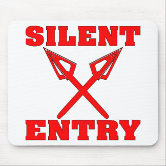 Crossed Arrows Silent Entry Mouse Pad
